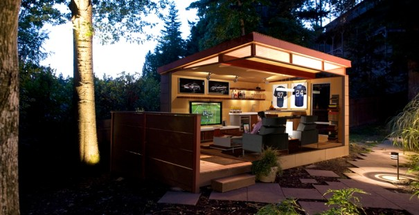 Man Cave, Prefab Shed, Backyard Shed