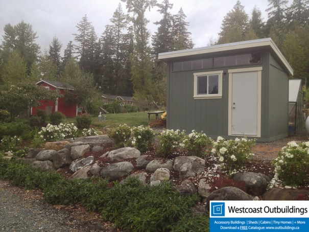 10 x 12 Contemporary Bellingham Garden Shed Westcoast Outbuildings