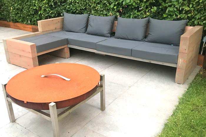 our bespoke outdoor cushions for garden