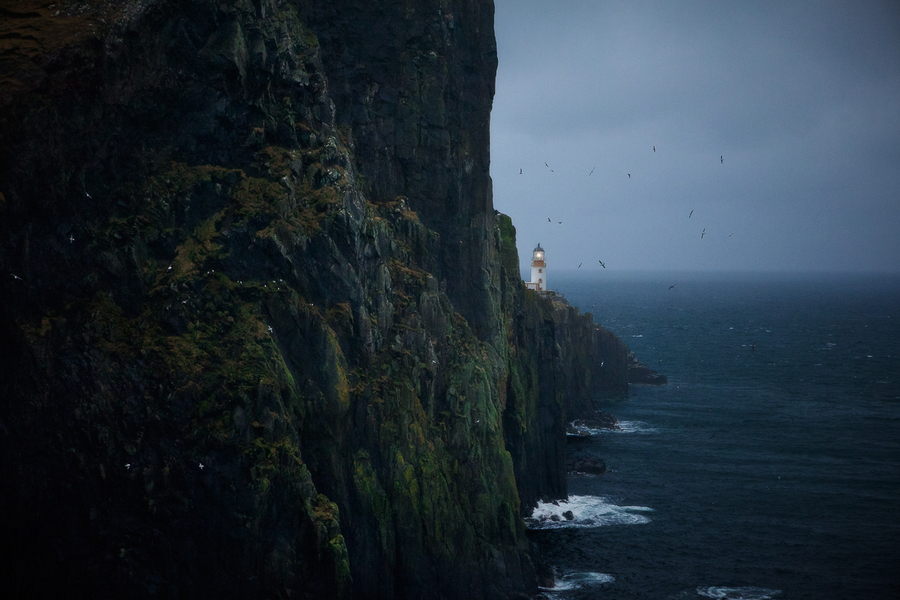 The Neist Point. Scotland | ocean, surf, rock, seamark
