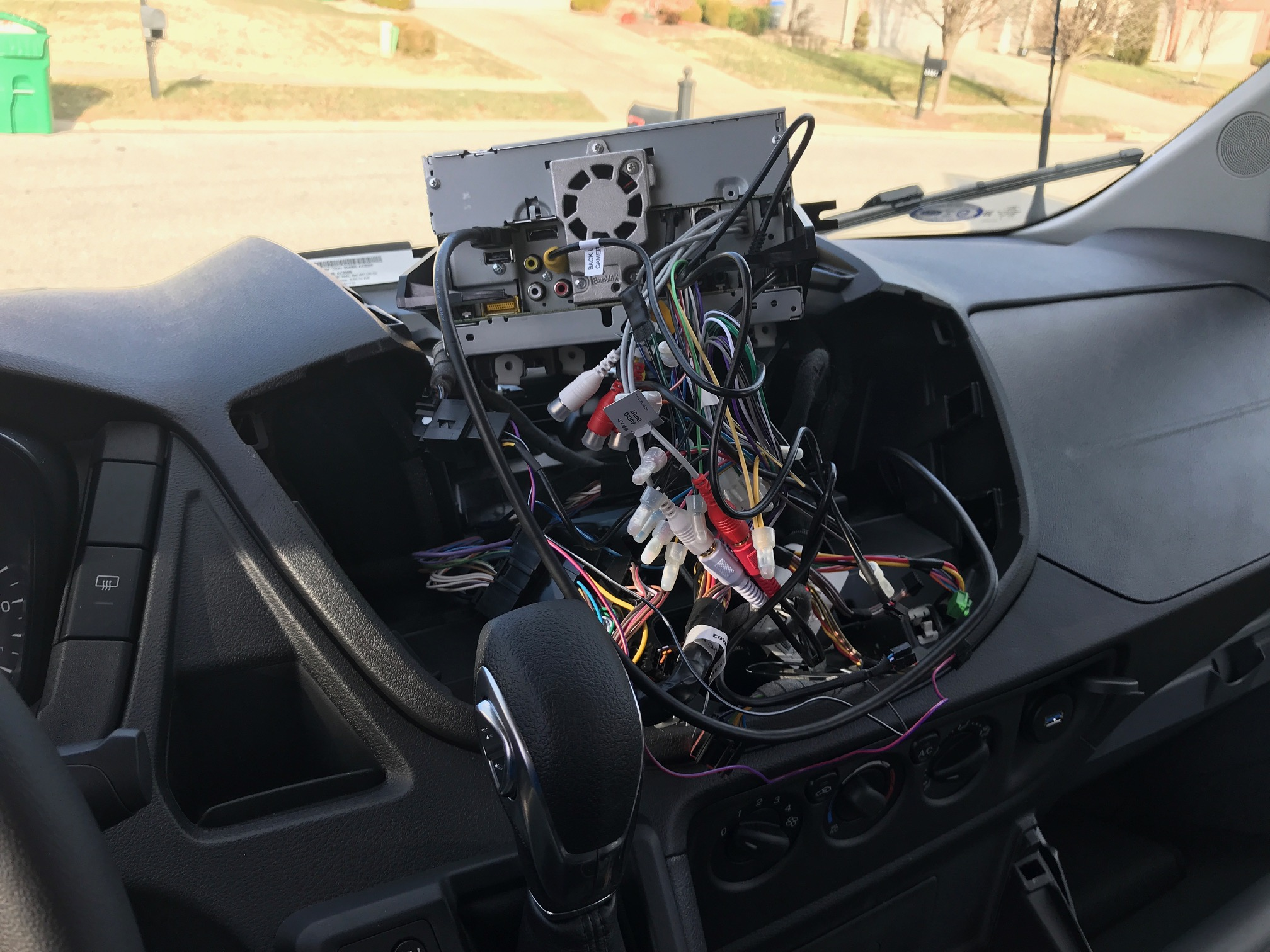 Van Conversion Ford Transit Stereo Installation Wiring Harness What A Rats Nest