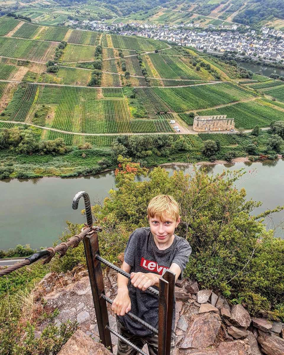 Uitzicht tijdens het klimmen. Foto: Herman van Alfen