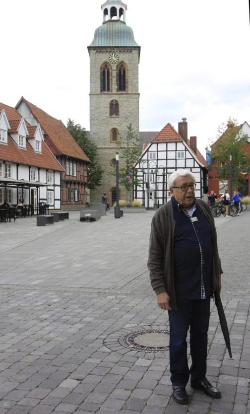 Christophe, de bevlogen gids in Wiedenbrück