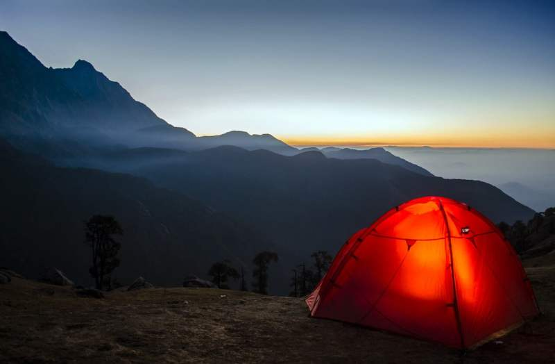 Hiking and Camping Combination