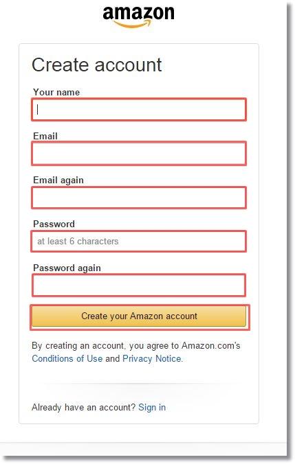 amazon.comアメリカ米国アマゾンアカウント作成3