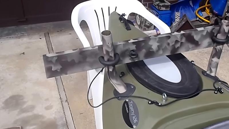 Installing A Kayak Trolling Motor Mount 5