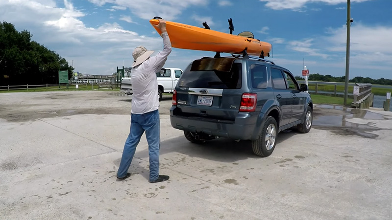 Unloading The Kayak
