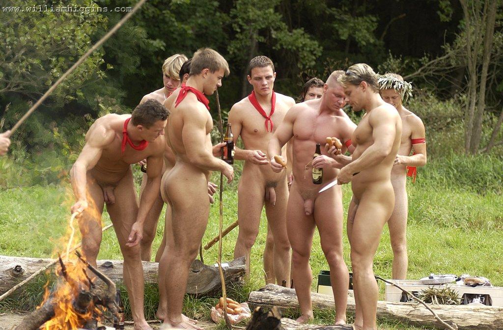 Nude cumshot camping Men