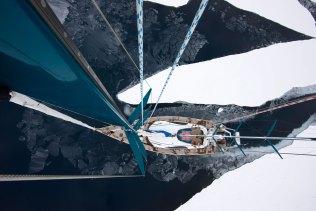 Mike Horn's custom-built boat Pangaea. Photo: Dmitry Sharomov