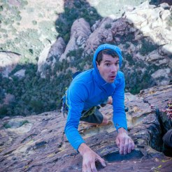 Another shot from downsoloing chrimson chrysalis. Photo: Ted Hesser