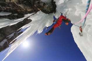 Cascade de glace Tequila. Photo courtesy of Chamonix-Mont-Blanc Municipalities