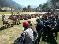 Briefing by the Commanding Officer of ITBP 12th Battalion, Matli