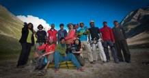 The Girivihar Club team in Miyar Valley, Himachal, North India.