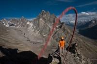 On the summit in Miyar Valley