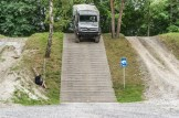 A Unimog driven backwards on a 60% gradient ramp of steps. Photo: Apoorva Prasad/The Outdoor Journal