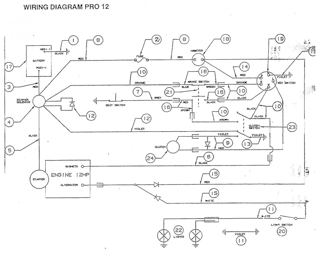 murray riding mower wiring diagram Wiring Diagram