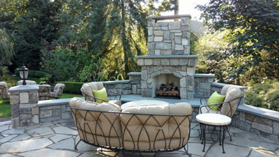 outdoor fireplace woodinville