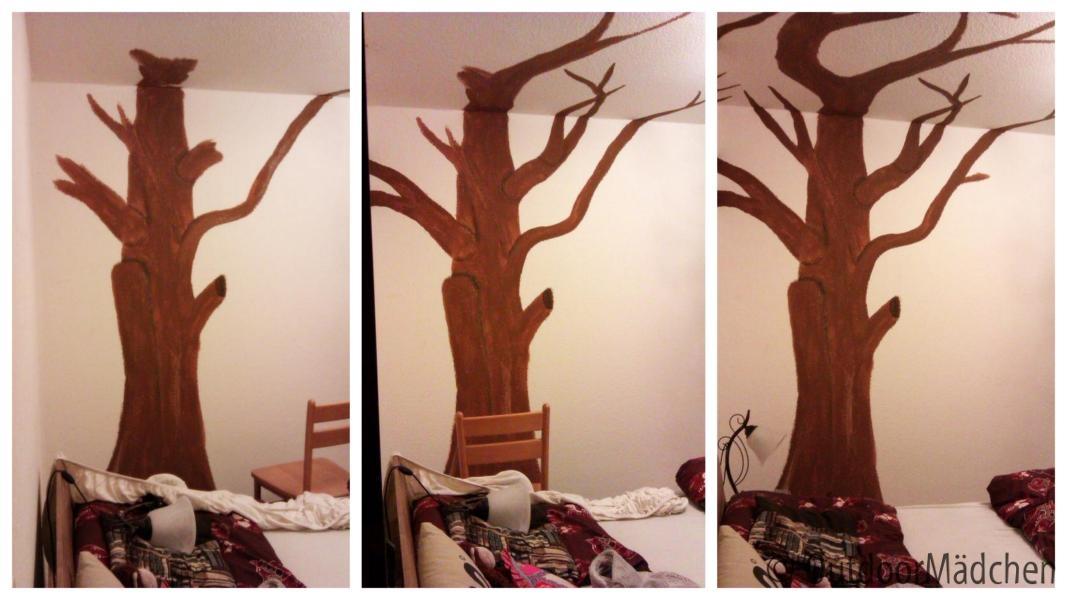 Top With Baum An Wand Malen.