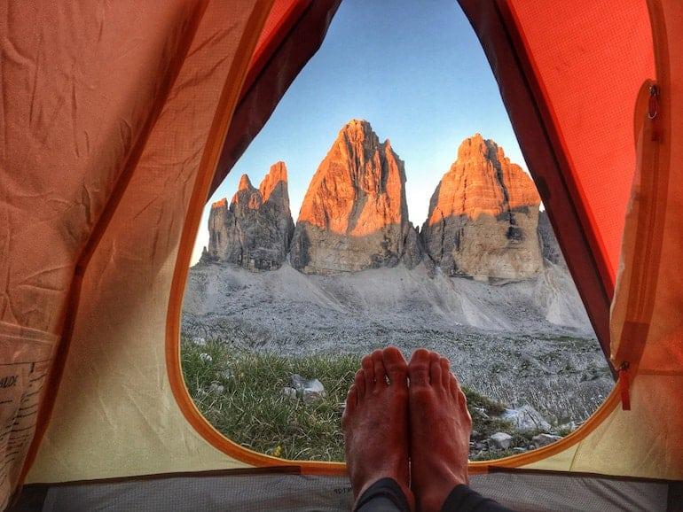 Feldbett-Camping