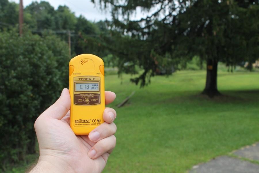 Geigerzähler digitale Anzeige