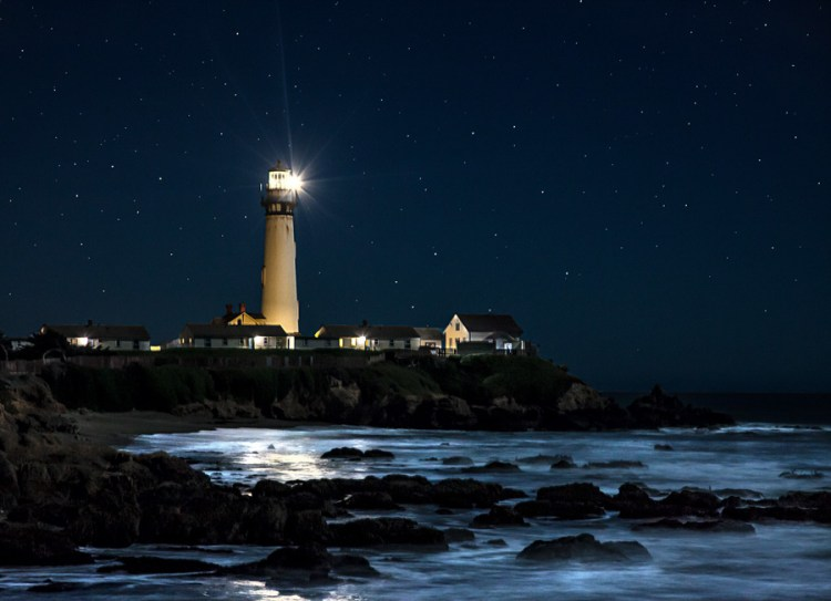 """Putting the subject in the middle of the picture of Pigeon Point, CA would have ruined the photo. Put the subject to one side, preferably on an imaginary """"thirds"""" grid-line."""