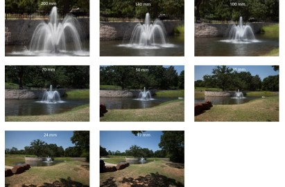 Examples of different focal lengths