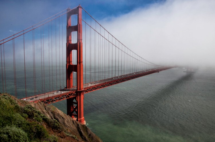 Obvious shot of Golden Gate