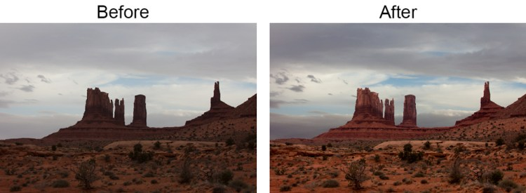 Picture before and after curves  adjustment layers