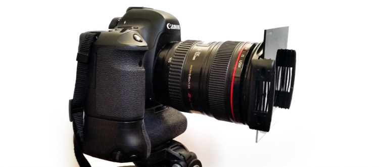 Camera with a Graduated Neutral Density filter attached
