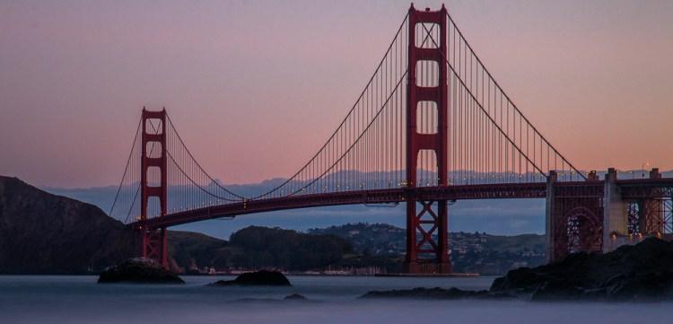 Shot of the Golden Gate Bridge from Baker Beach