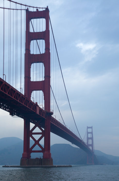 Shot of the Golden Gate Bridge from Fort Point