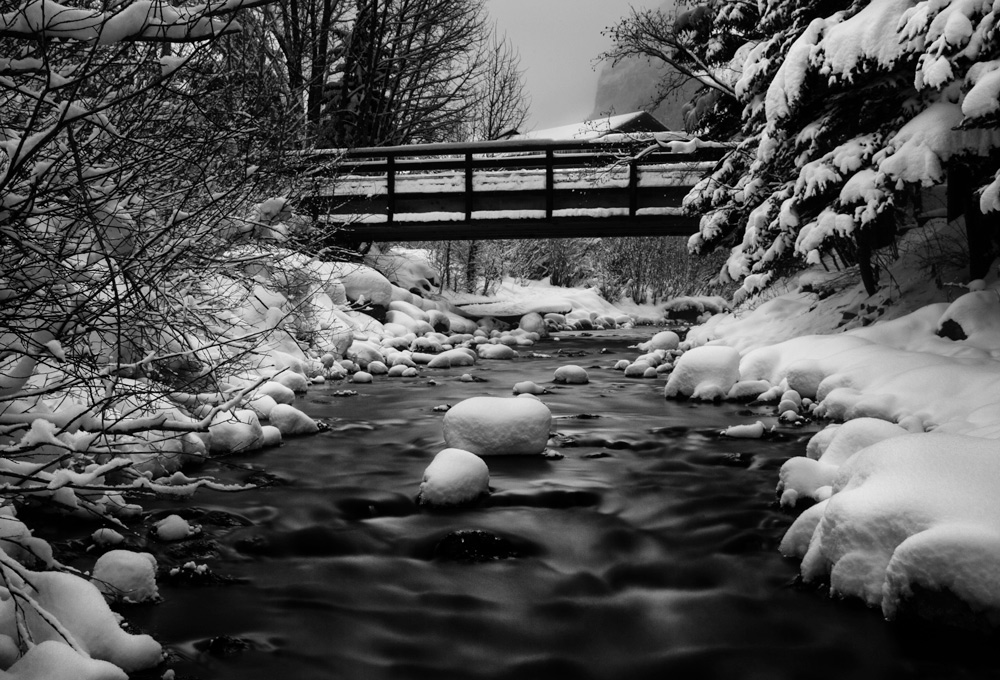 Telluride Creek - Example of black and white photo