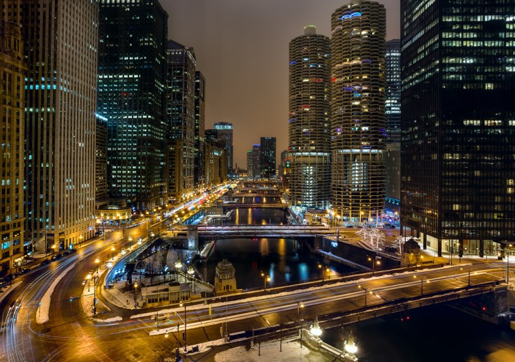 Long exposure example of Chicago