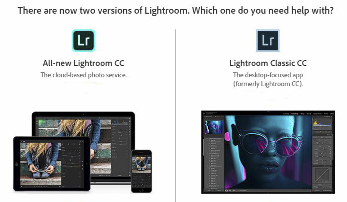 Lightroom CC v Classic