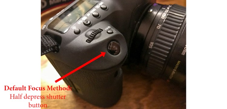 Photo of shutter release button, which is typically used to set the focus point