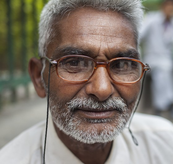 Street barber in Kathmandu