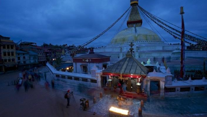 Morning at the Stupa