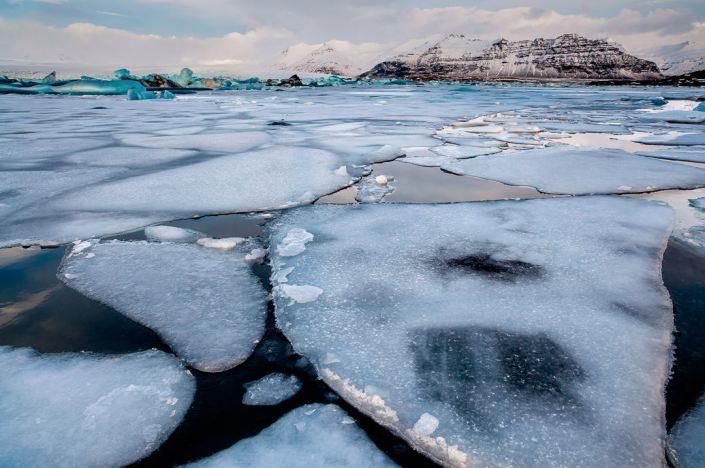 Jökulsárlón, Iceland, ice flow