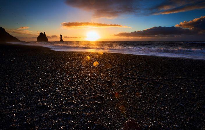Vik, black sand beach, Iceland