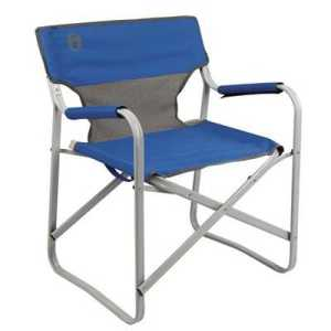 Coleman Steel Deck Chair blue