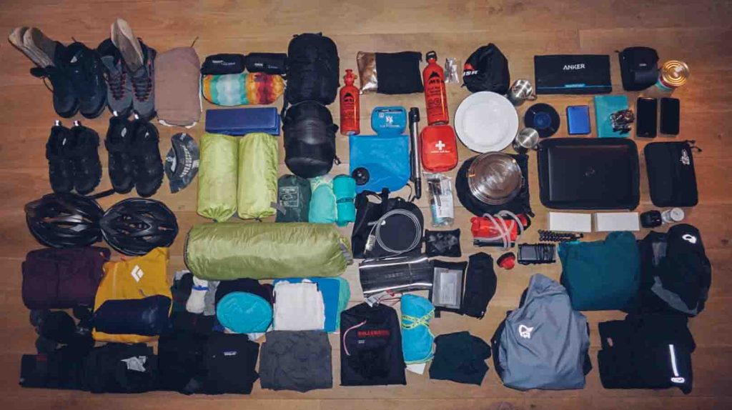 Bicycle touring gear list; useful, durable and necessary stuff