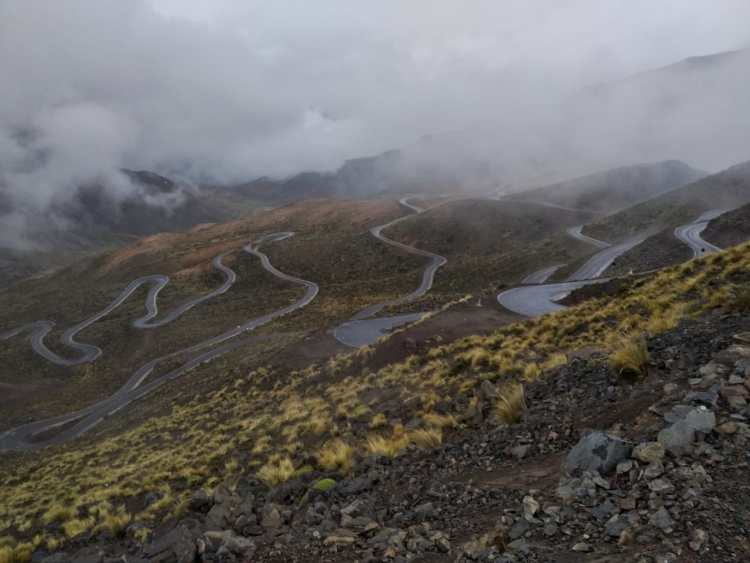 cones and canyons route: beautiful switchbacks
