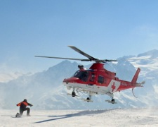 Helicopter Rescue After Mountain Accident