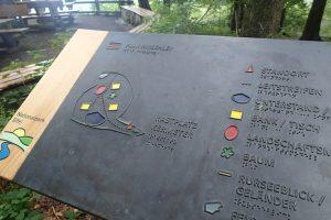 Barrierefreier Wanderweg am Aussichtspunkt Hirschley