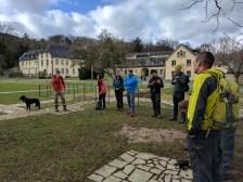 Bernd gibt Infos zu Kloster Heisterbach