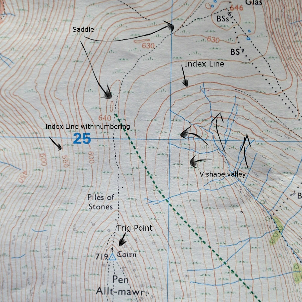 Contour Lines On A Topographic Map Connect.Map Reading Contour Lines