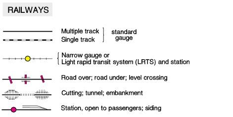 Map reading map symbols outdoors father railroad symbols os uk publicscrutiny Choice Image