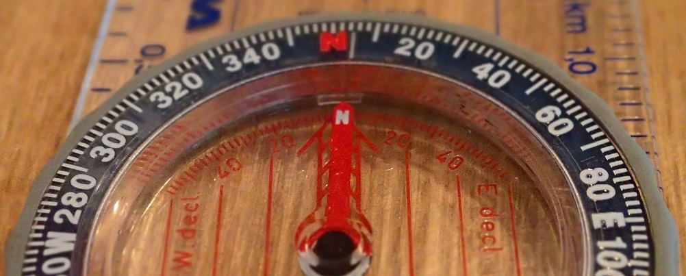 True north vs magnetic north on a compass