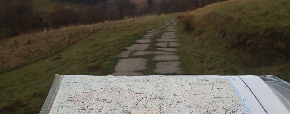 Using a map to plan a route on the go