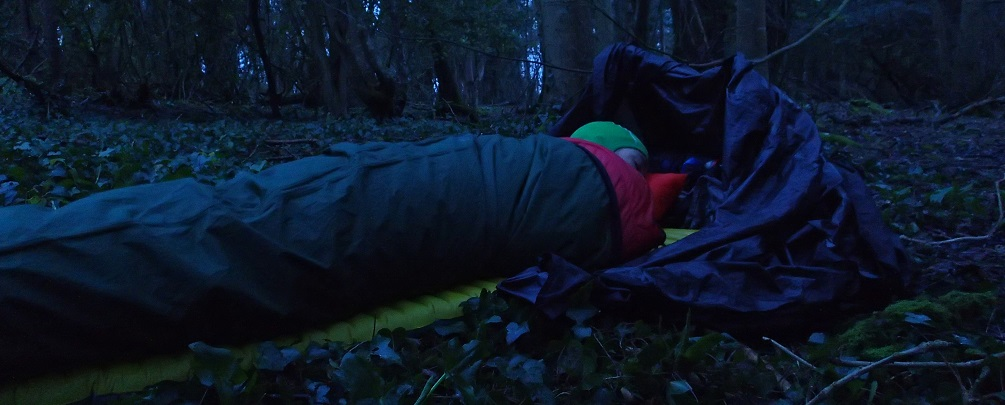 Sleeping in a bivy bag leaves you exposed